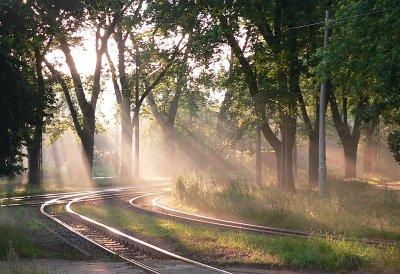 Rails in the sun