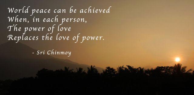 when power love peace - Love Vs Power