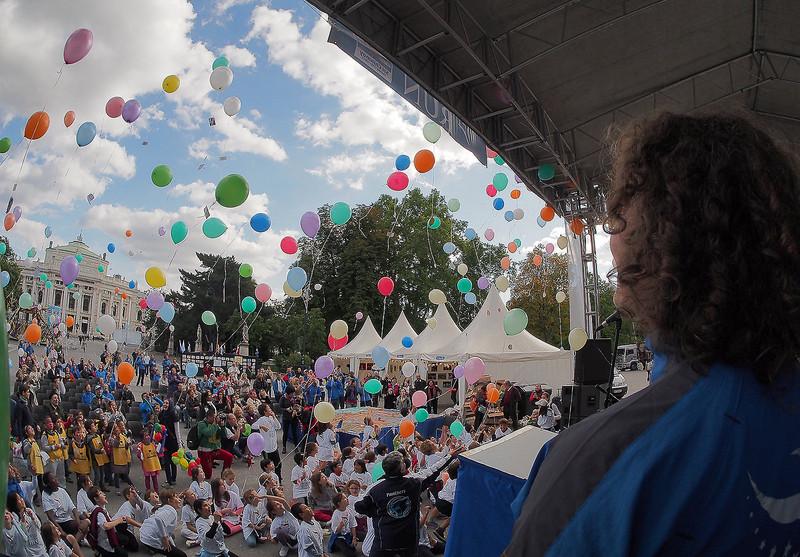Finale of European World Harmony Run in Vienna